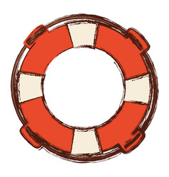 blurred color in flotation hoop with rope vector image vector image
