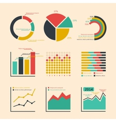 Business ratings graphs and charts vector image
