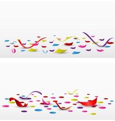 celebration confetti set on white background vector image