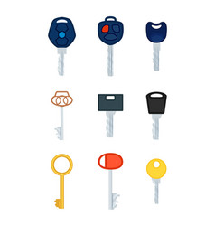 different types of keys collection of pictures vector image