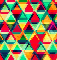 Hipster triangle seamless pattern with grunge vector
