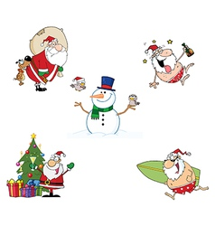 Holidays Cartoon Characters- Collection vector image