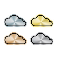 Internet cloud of platinum gold silver bronze vector image vector image