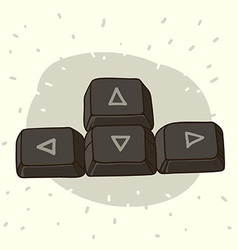 Keyboard buttons with arrows vector image vector image