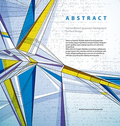 abstract geometric background techno style vector image vector image