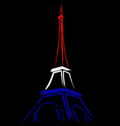 abstract logo or sign for france paris and eiffel vector image