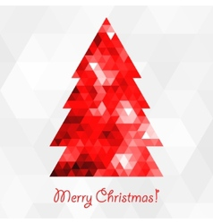 Abstract mosaic christmas tree vector image