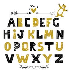 abstract stylish alphabet in scandinavian style vector image