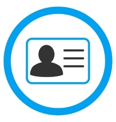 Account Card Rounded Icon vector