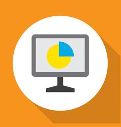 analytics icon flat symbol premium quality vector image