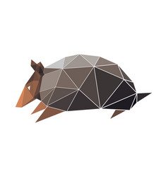 Armadilo in low poly style digital art vector