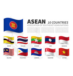 asean association southeast asian nations and vector image