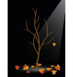 Autumn tree without leaves vector
