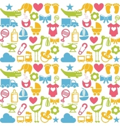 baby set icons pattern isolated vector image