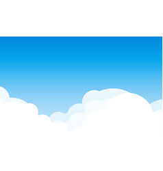 background with cloudscape at sunny day - blue vector image