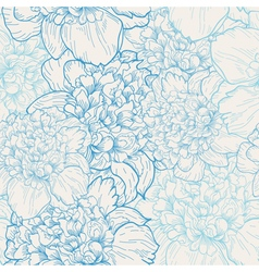 background with pattern of beautiful peonies vector image