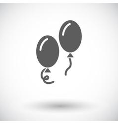 Ballon flat icon vector