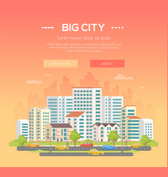 Big city - modern colorful vector