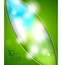 blurred nature lights background vector image