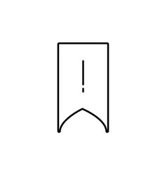 bookmark atention icon vector image