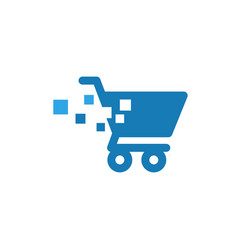 cart pixels graphic icon design template vector image
