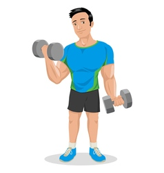 Cartoon Fitness Dumbbells vector