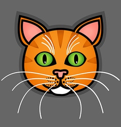 Cartoon orange cat vector