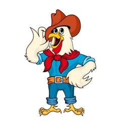 Cartoon rooster vector