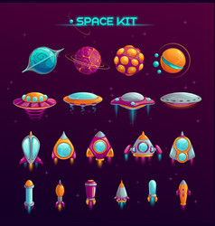 Cartoon space war concept vector