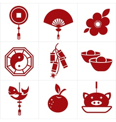 Chinese new year icon vector