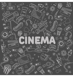 Cinema line art design vector image