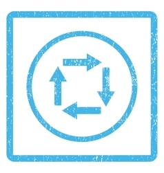 Circulation Arrows Icon Rubber Stamp vector