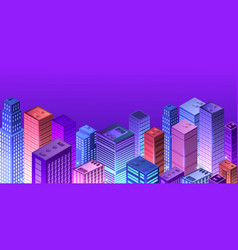 cityscape 3d ultraviolet vector image