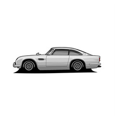 classic car side view vector image