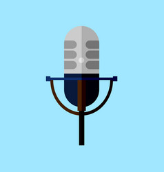 classic microphone style graphic vector image