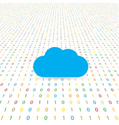 Cloud internet symbol on a digital background vector