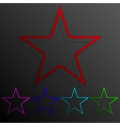 Color set star banners frame template for design vector