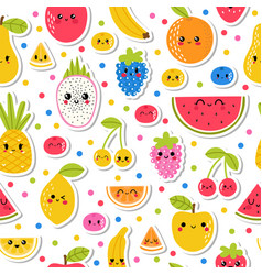 Colorful hand drawn seamless pattern with vector
