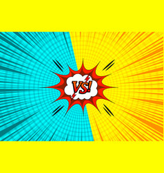 comic versus bright template vector image