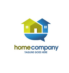 community house social home and colored vector image
