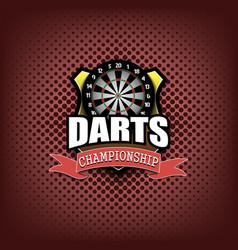 darts logo template design vector image