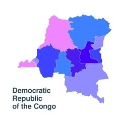 democratic republic congo vector image