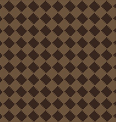 diagonal square brown beige seamless fabric vector image