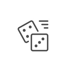 Dice line icon vector