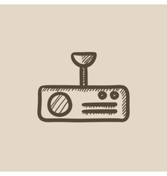 Digital projector sketch icon vector