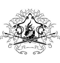 dragon shield vector image
