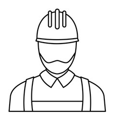 electric man icon outline style vector image