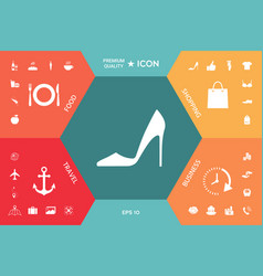 elegant women shoe vector image