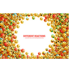 Emoticons conceptual art vector
