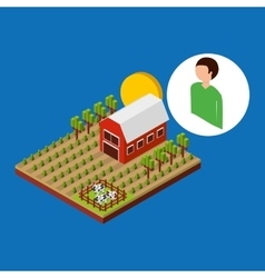 Farm countryside design vector